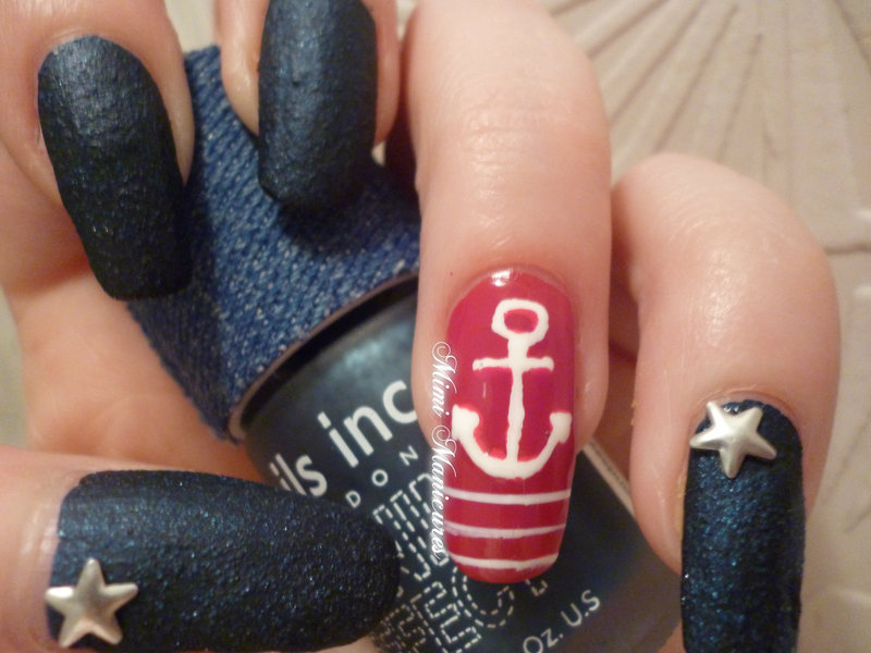 Nauticsl nail art by Michelle Travis