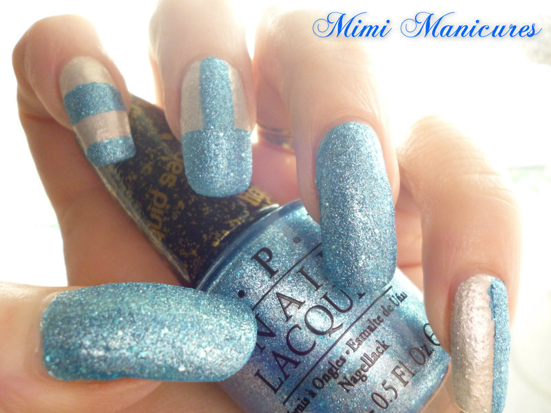 Liquid Sand mash up! nail art by Michelle Travis