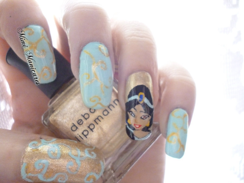 Disney Princess Jasmine nail art by Michelle Travis - Nailpolis ...