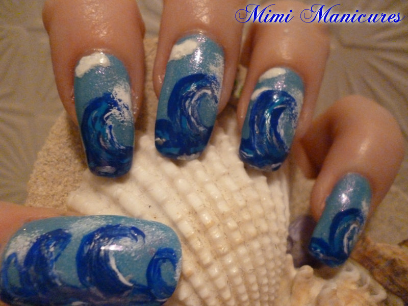 riding the wave! nail art by Michelle Travis