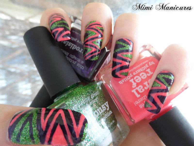 Tribal insanity! nail art by Michelle Travis