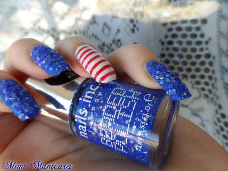 Beaded nautical nail art by Michelle Travis