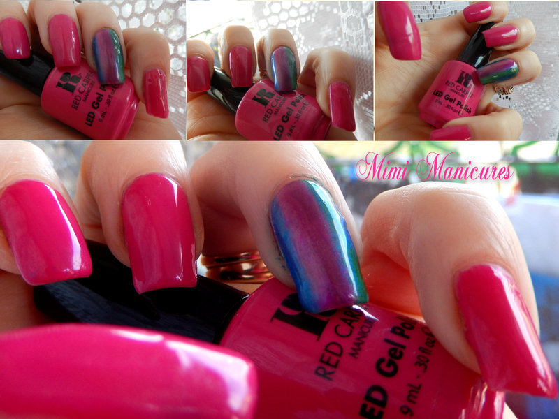 Pretty rainbow colour fade nail art by Michelle Travis