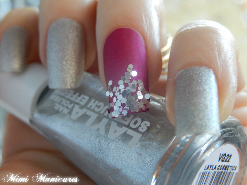sequin mani nail art by Michelle Travis