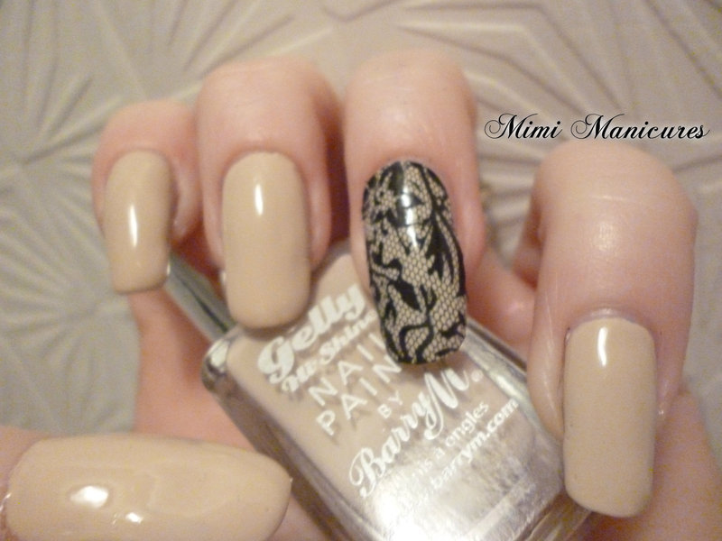lace effect nail art by Michelle Travis