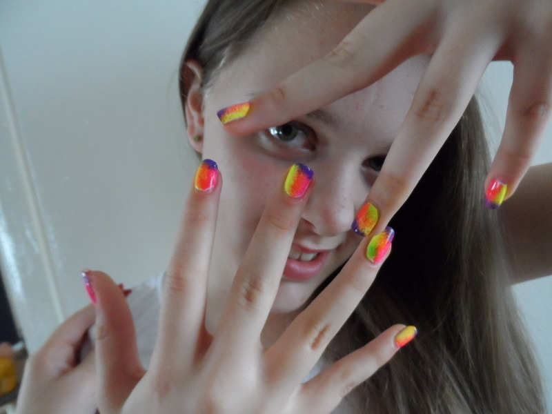 neon madness! nail art by Michelle Travis