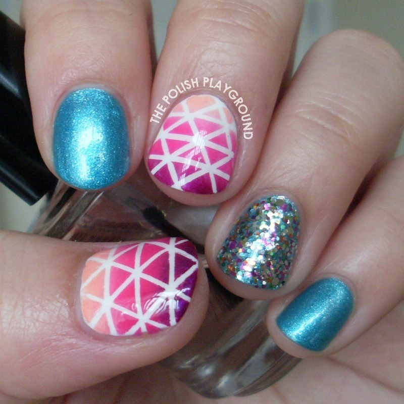 Geometric Nail Art nail art by Lisa N