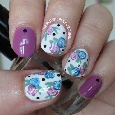 Easy Floral Nails nail art by Lisa N