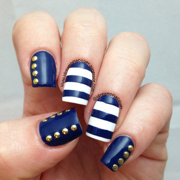 aye aye sailor nail art by iDream of Lacquer