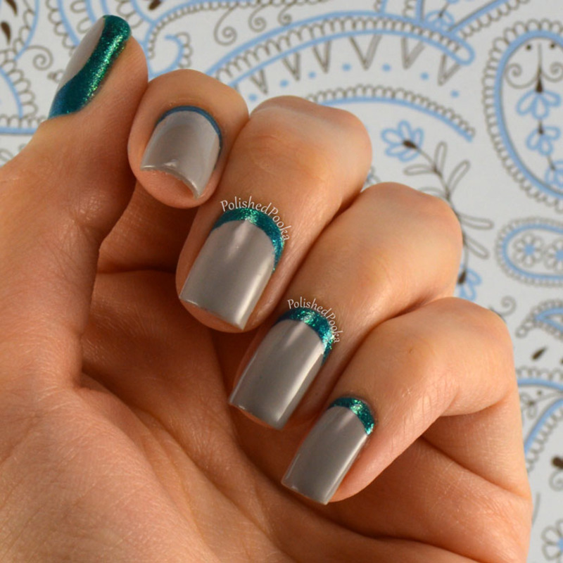 Mermaid Ruffian nail art by Kyema