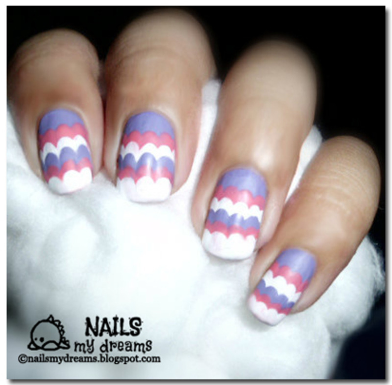 Ruffle Nail Art nail art by Kat of NailsMyDreams
