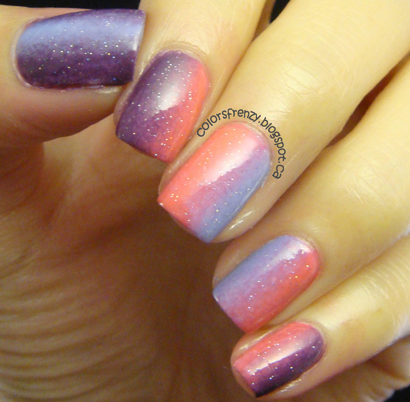 Vertical Gradient nail art by Novi