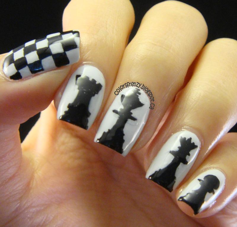 Chess nail art by Novi