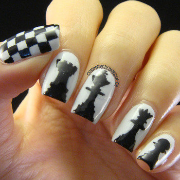 Chess nail art by Novi