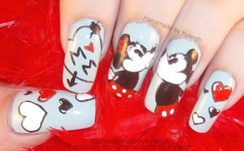 Mickey loves minnie nail art by kyleigh handmade by kyleigh mickey loves minnie nail art by kyleigh handmade by kyleigh prinsesfo Image collections