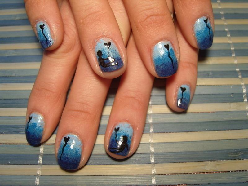 Lovers nail art by Lakierowniczka