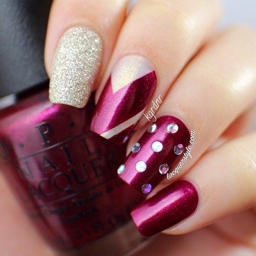 OPI Mariah Carey Holiday 2013 Nail Art nail art by Kristin (Lacquerstyle)