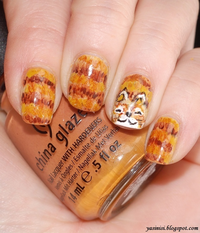 Here kitty, kitty :) nail art by Yasinisi