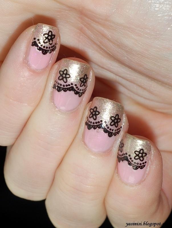 Lace nail art by Yasinisi