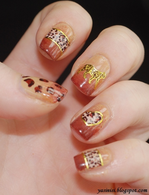 Safari nail art by Yasinisi