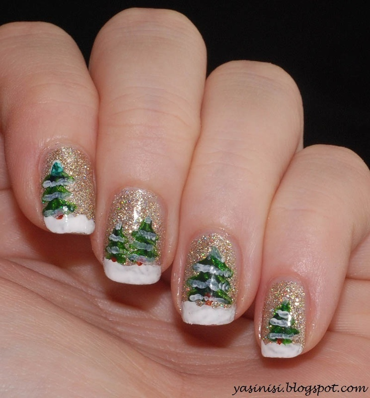 Christmas  nail art by Yasinisi