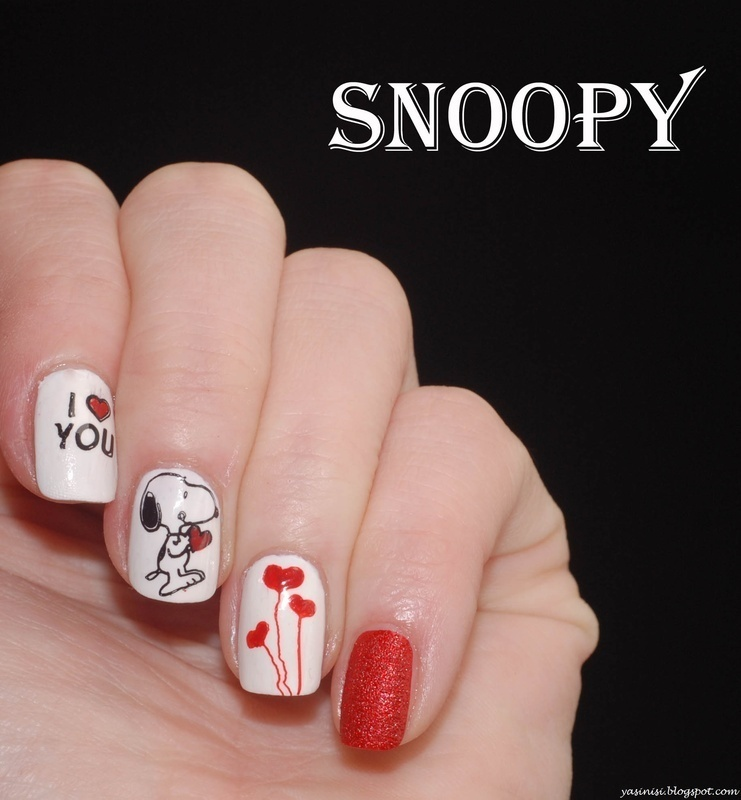 Snoopy nail art by Yasinisi
