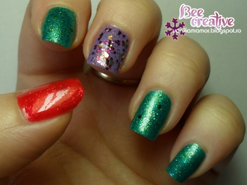 Ariel  nail art by Isabella