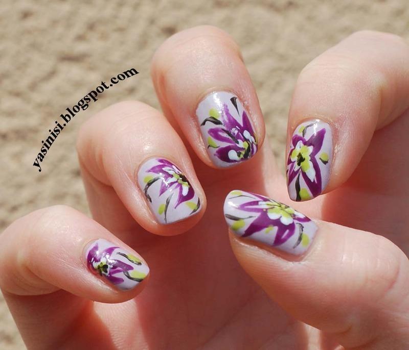 Esy floresy nail art by Yasinisi