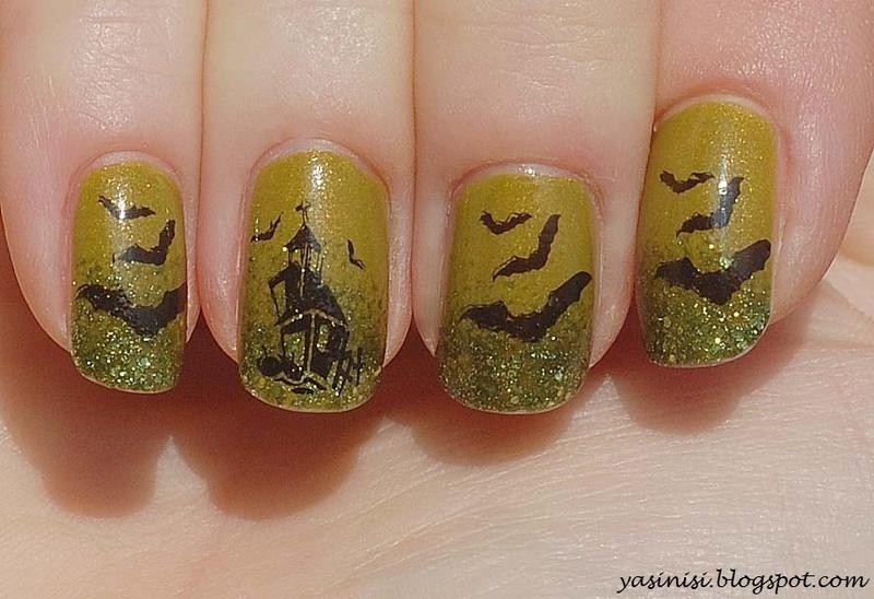 Halloween nail art by Yasinisi