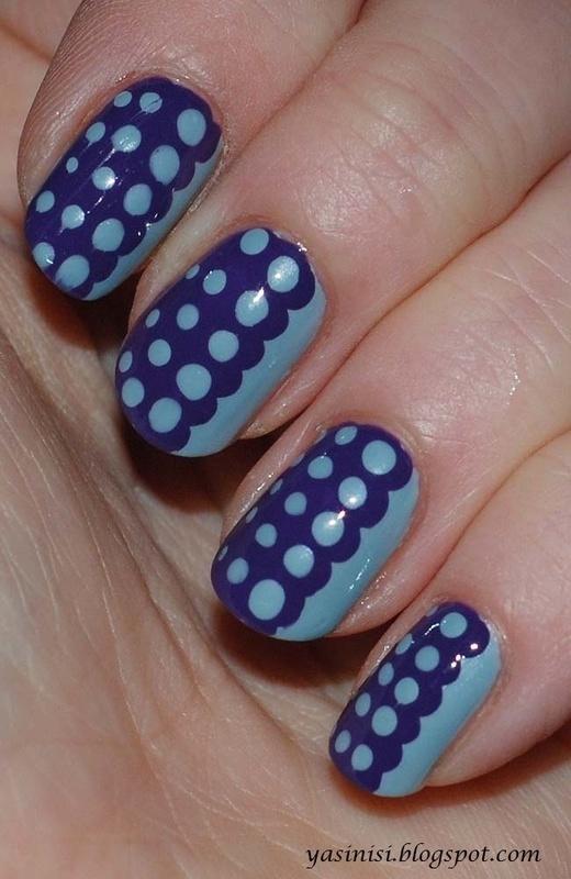 Fading dots nail art by Yasinisi