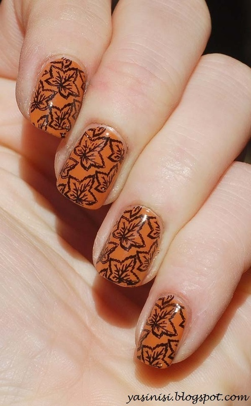 Autumn nail art by Yasinisi