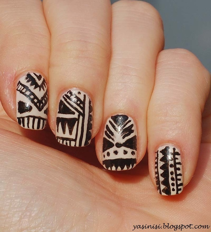 Tribal nail art by Yasinisi