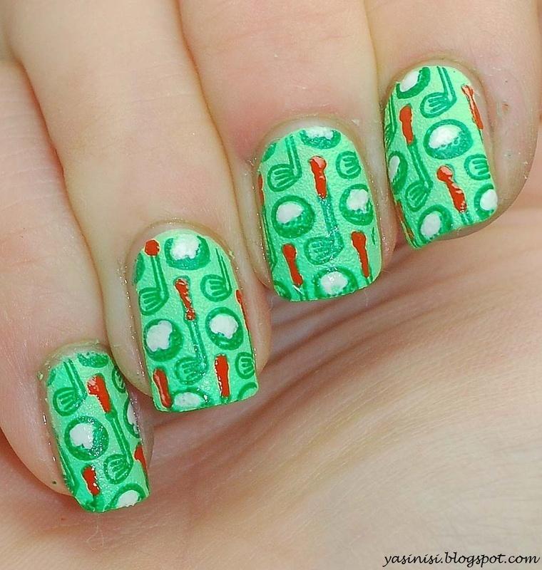 golf nail art by Yasinisi