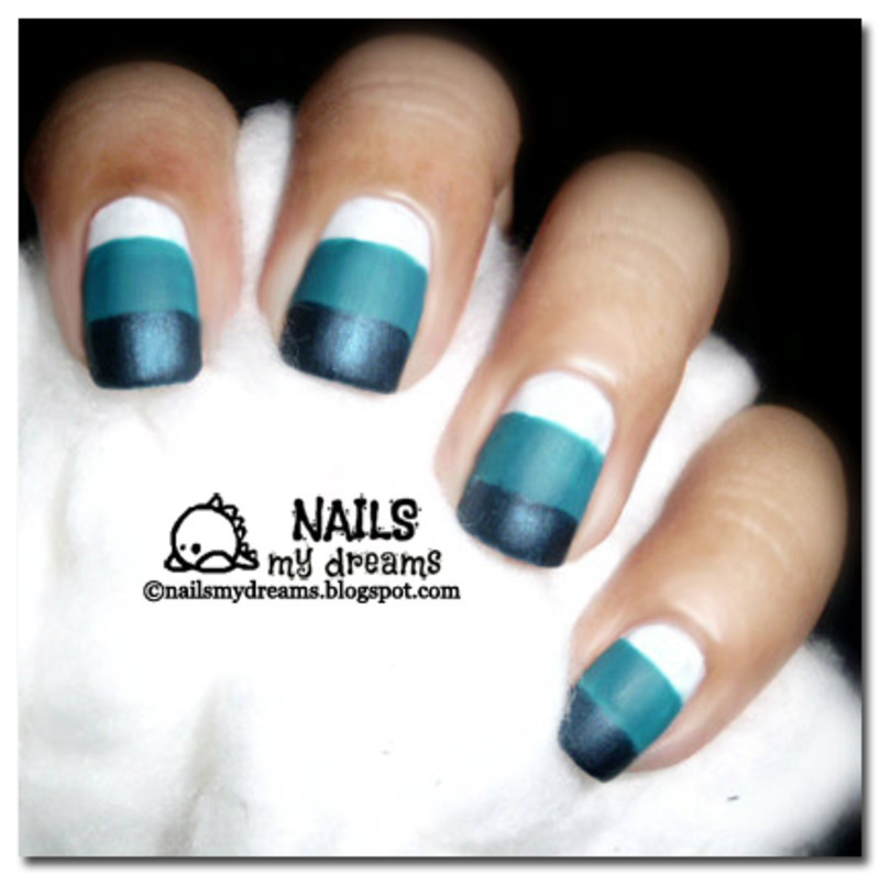 Blue Gradient Matte Nails nail art by Kat of NailsMyDreams