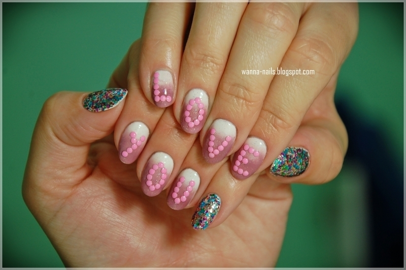 Love you nail art by Oana Chiciu