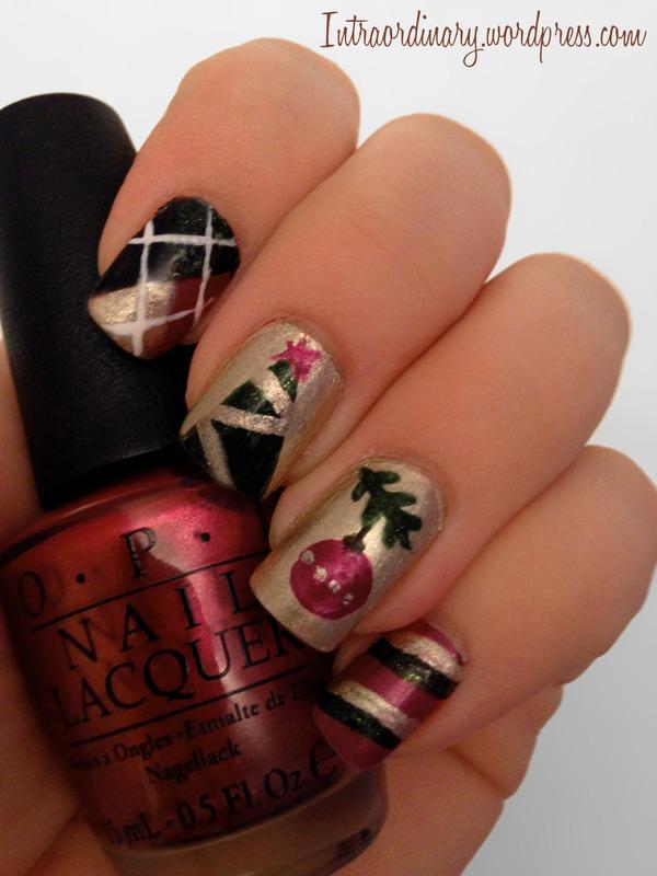 Christmas Nails nail art by Katie
