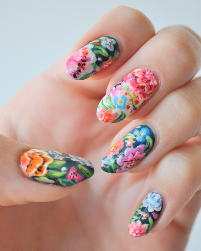 Garden nail art by Tiffany Blue