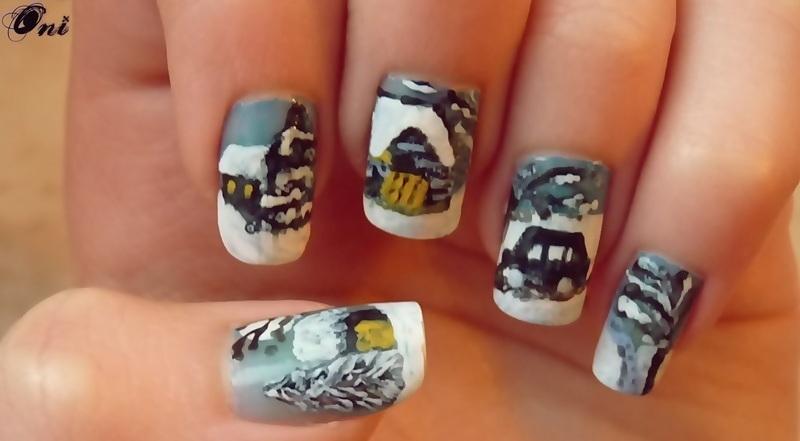 Winter nail art by Stegaru  Oana