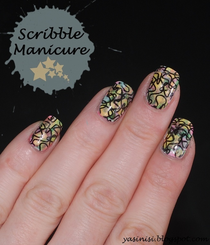 Scribble nail art by Yasinisi