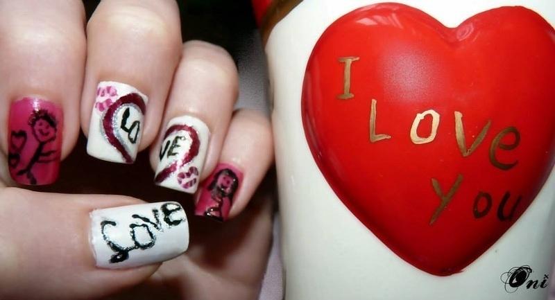 Running for love nail art by Stegaru  Oana