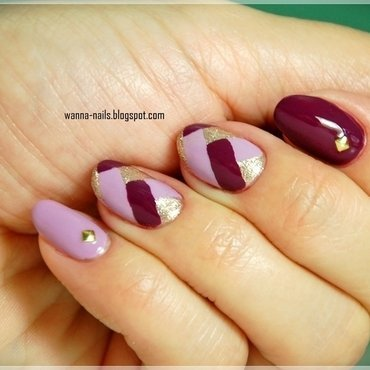 Fishtail manicure nail art by Oana Chiciu