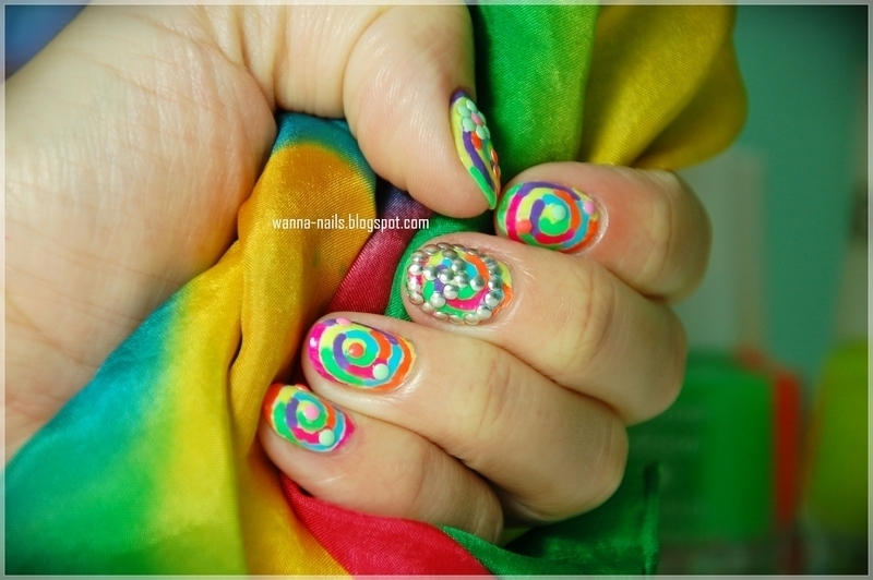 Hippie nails nail art by Oana Chiciu