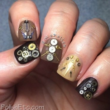 McPolish's Steampunk Nails nail art by Amy McG