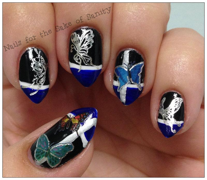 Butterflies nail art by Kelly Callahan