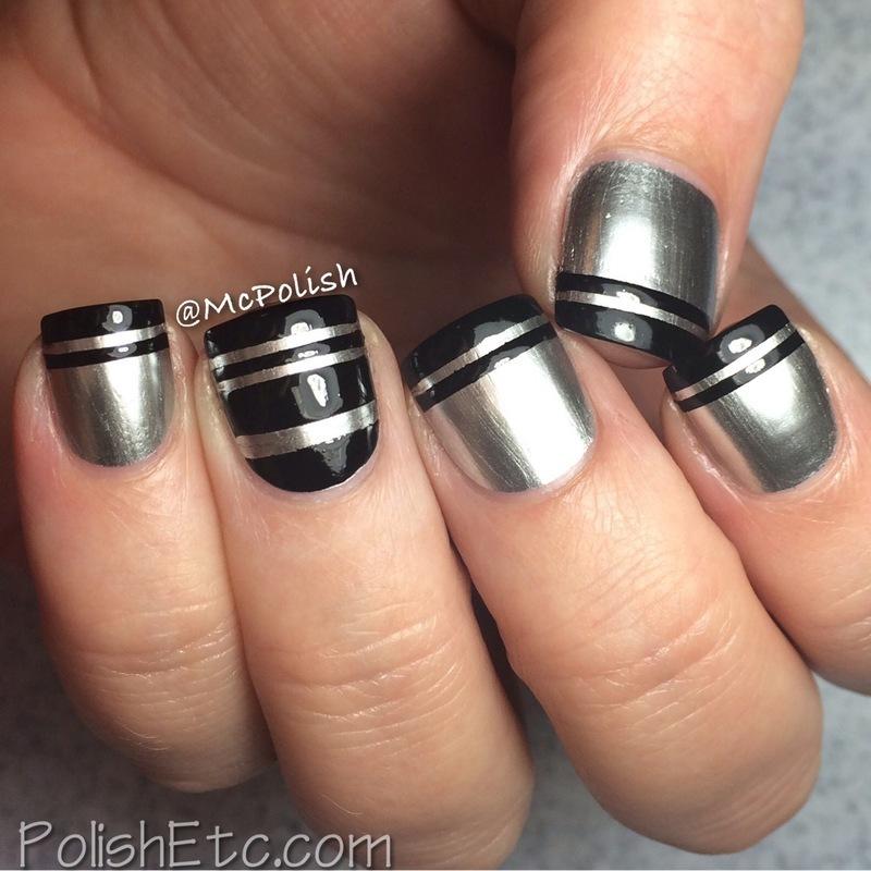 McPolish's Negative Space ReDuex nail art by Amy McG