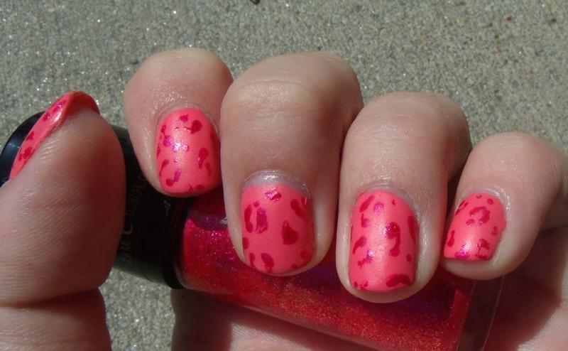 Pink Leopard nail art by Toria Mason