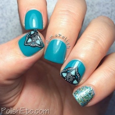 McPolish's Birthday Stamping Mani nail art by Amy McG
