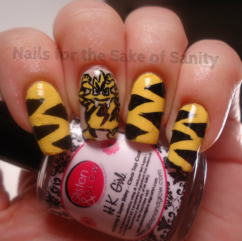 Electabuzz nail art by Kelly Callahan