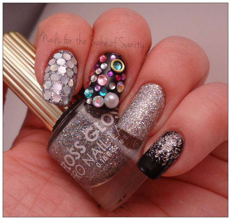 The Great Glitzy nail art by Kelly Callahan