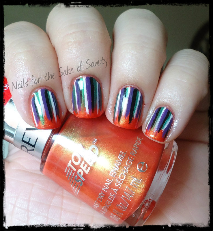 Hallowaterfall nail art by Kelly Callahan